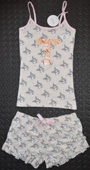 Thumper Disney PRIMARK PJ Set Pyjamas Vest And Shorts Womens Sizes 6 - 20 NEW