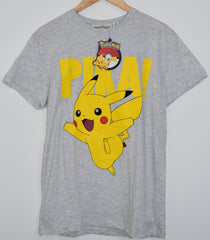 PIKACHU MENS T SHIRT POKEMON PIKA LOGO PRIMARK UK Sizes M - XL