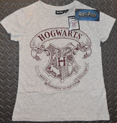 Primark HOGWARTS T Shirt CREST HARRY POTTER Womens Ladies UK Size 4-20 NEW