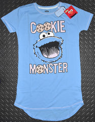 COOKIE MONSTER PRIMARK NIGHTIE T Shirt Sesame Street PJ Sizes 4 - 20