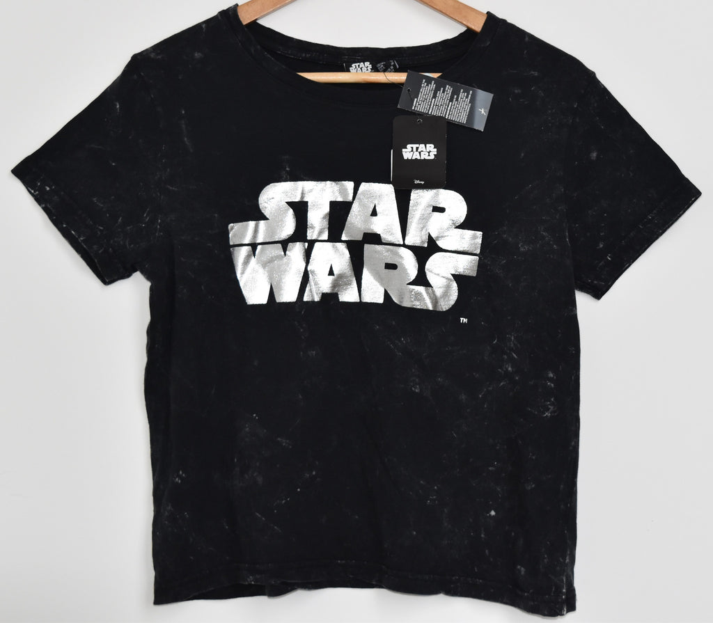 Primark Star Wars T Shirt Foil Print Womens Ladies UK 6-20 NEW