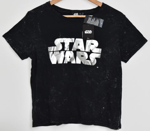 Primark Star Wars T Shirt Foil Print Womens Ladies UK size 14