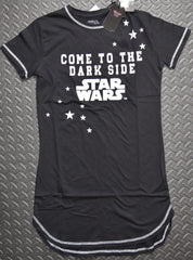 STAR WARS PRIMARK NIGHTIE DISNEY COME TO THE DARK SIDE T Shirt Sizes 4 - 20