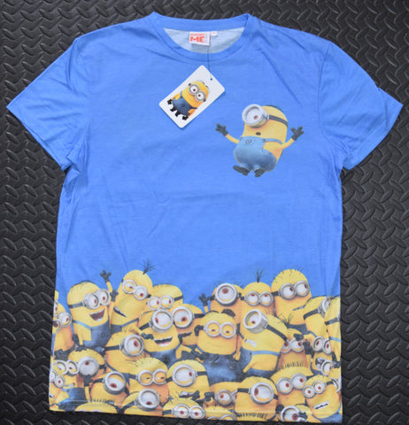 MINIONS T SHIRT DESPICABLE ME BLUE PRIMARK MENS  T Shirt Size MEDIUM
