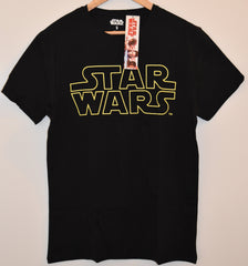 STAR WARS Primark MENS T SHIRT BLACK YELLOW DISNEY NEW UK Sizes M - XXL