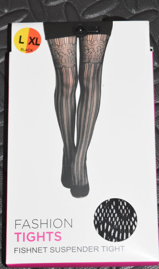 FISHNET SUSPENDER FASHION TIGHTS PRIMARK Ladies Womens Pantyhose Small SM - XL NEW