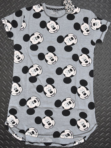 MICKEY MOUSE NIGHTIE PRIMARK PJ DISNEY FRONT AND BACK SAME DESIGN Size 6 to 20