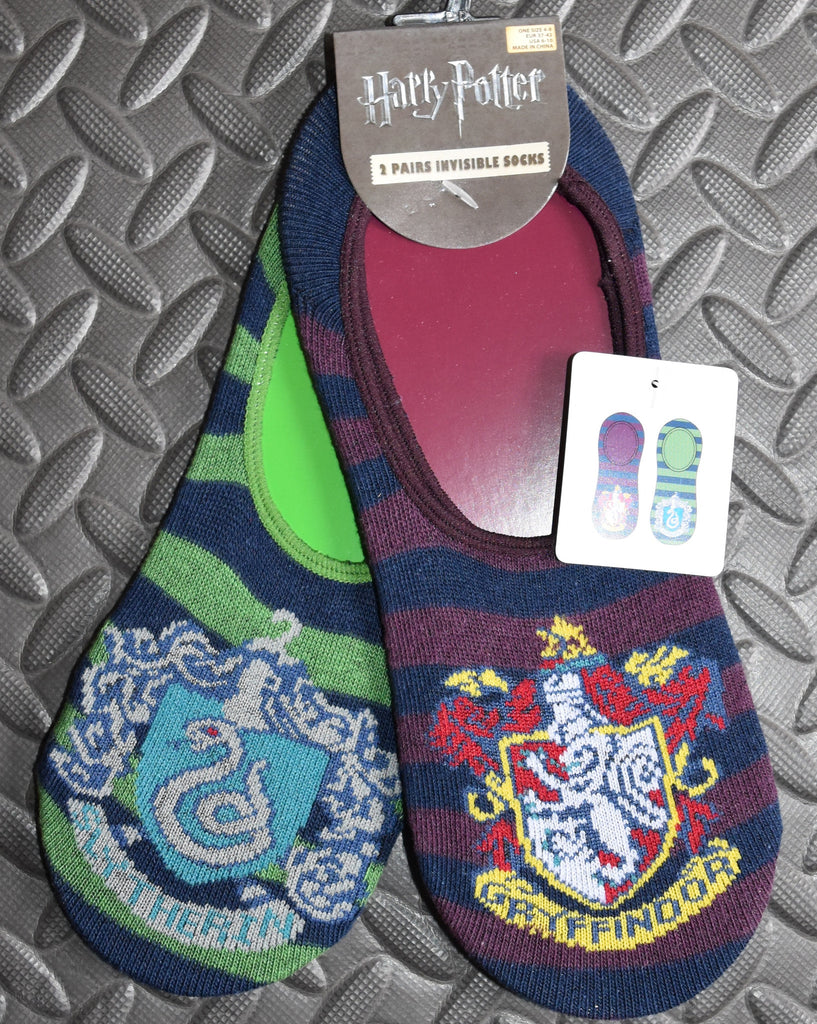 HARRY POTTER INVISABLE SOCKS PRIMARK GRYFFINDOR SLYTHERIN HOUSE CRESTS