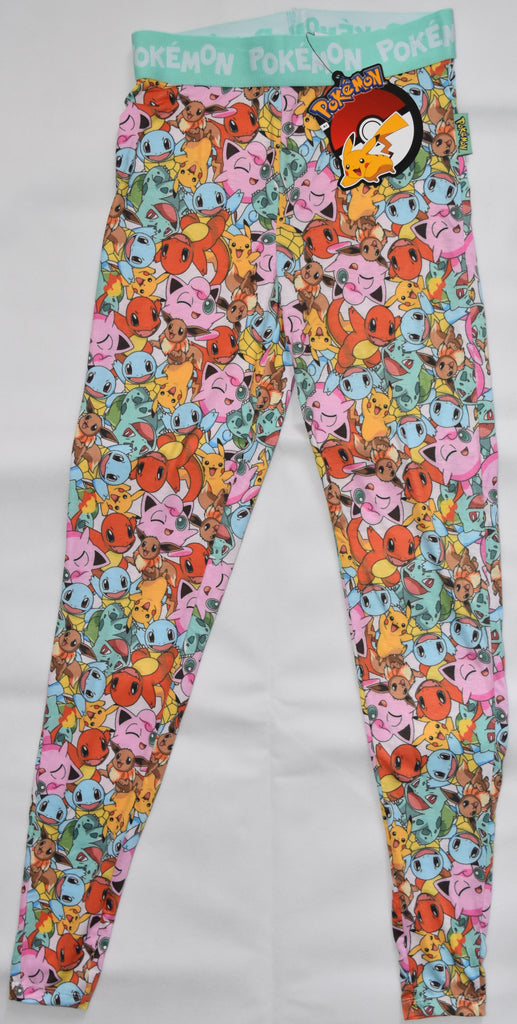 Pokemon PJ Bottoms PRIMARK LEGGINGS Pikachu Bulbasaur Jigglypuff UK Size 4 to 20