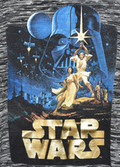 PRIMARK STAR WARS T SHIRT GOLD LOGO RETRO LUKE LEIA DARTH LADIES SIZE 6