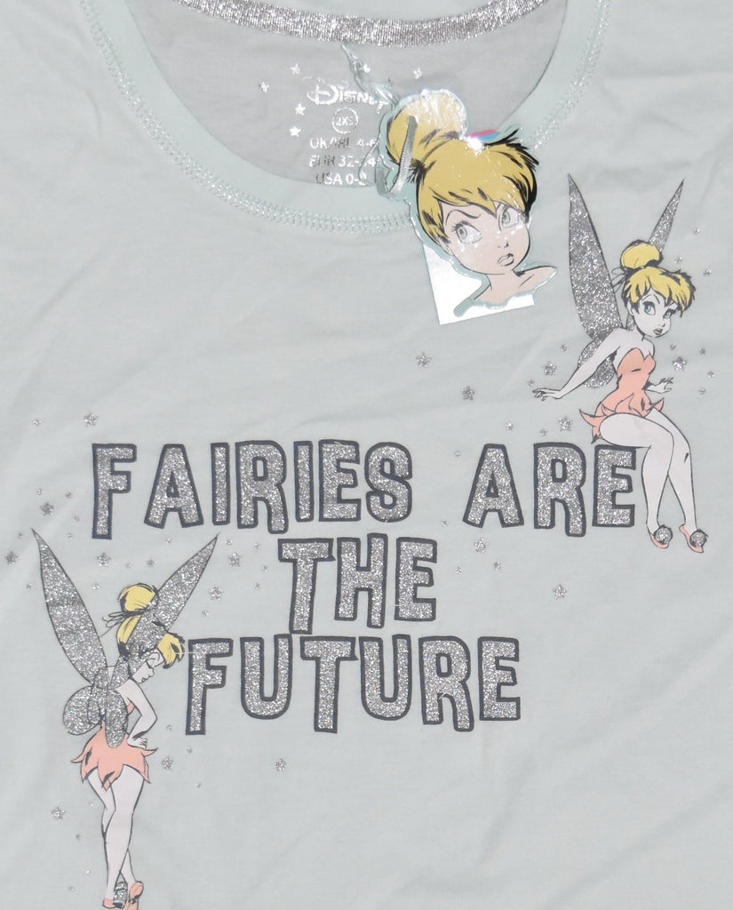 TINKERBELL T SHIRT FAIRIES ARE THE FUTURE PRIMARK DISNEY Womens Ladies UK Sizes 4 - 24
