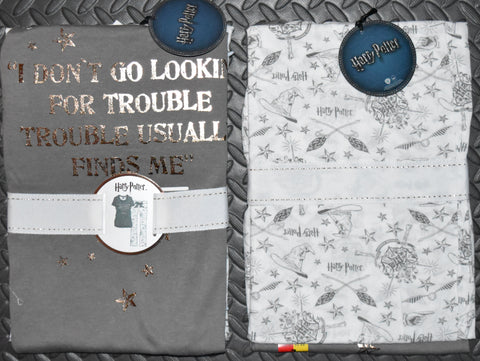 PRIMARK HARRY POTTER PJ HOGWARTS Pyjamas OFFICIAL UK Sizes 4 - 20 NEW