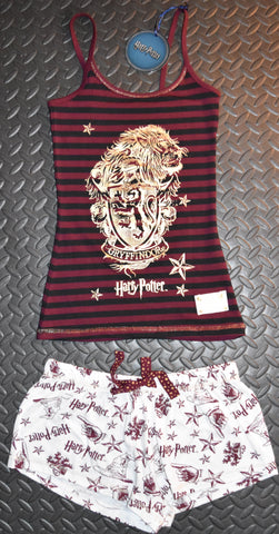 GRYFFINDOR PRIMARK Harry Potter Vest & Shorts Set PJ PYJAMAS Hogwarts UK Sizes 4 - 20