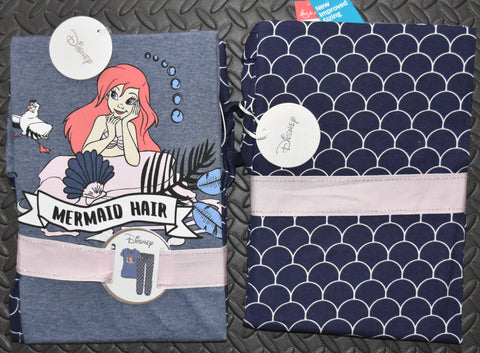 LITTLE MERMAID HAIR PRIMARK PJ Disney Ariel Set Womens Ladies Pyjamas UK Sizes 6 - 20