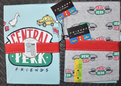 FRIENDS PRIMARK PJ CENTRAL PERK Set Womens Ladies Pyjamas UK Size 14 to 16