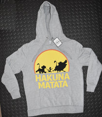 HAKUNA MATATA HOODIE LION KING DISNEY TOP WOMENS LADIES UK SIZES 6 - 10 new