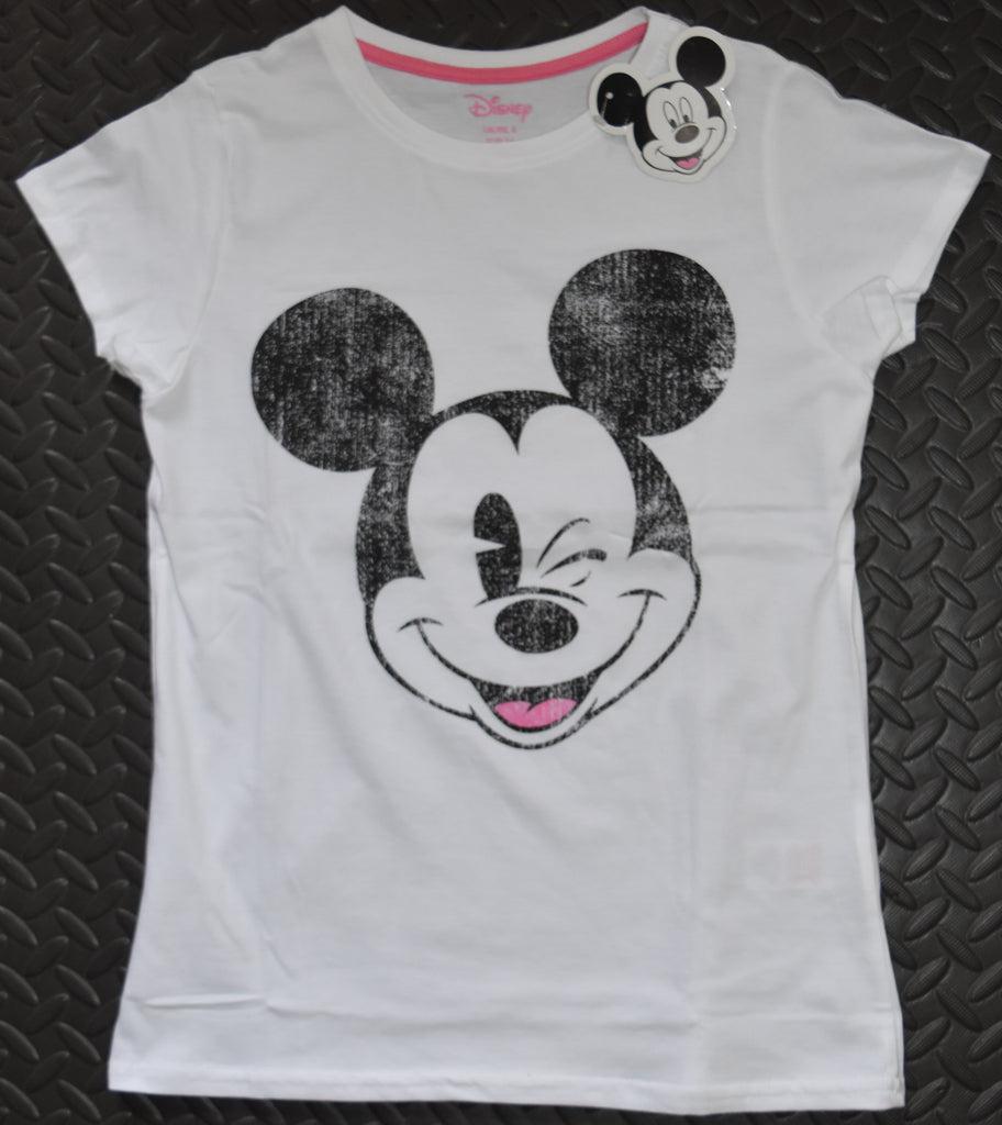 MICKEY MOUSE Primark T Shirt DISNEY White Womens Ladies UK Sizes 6 to 8