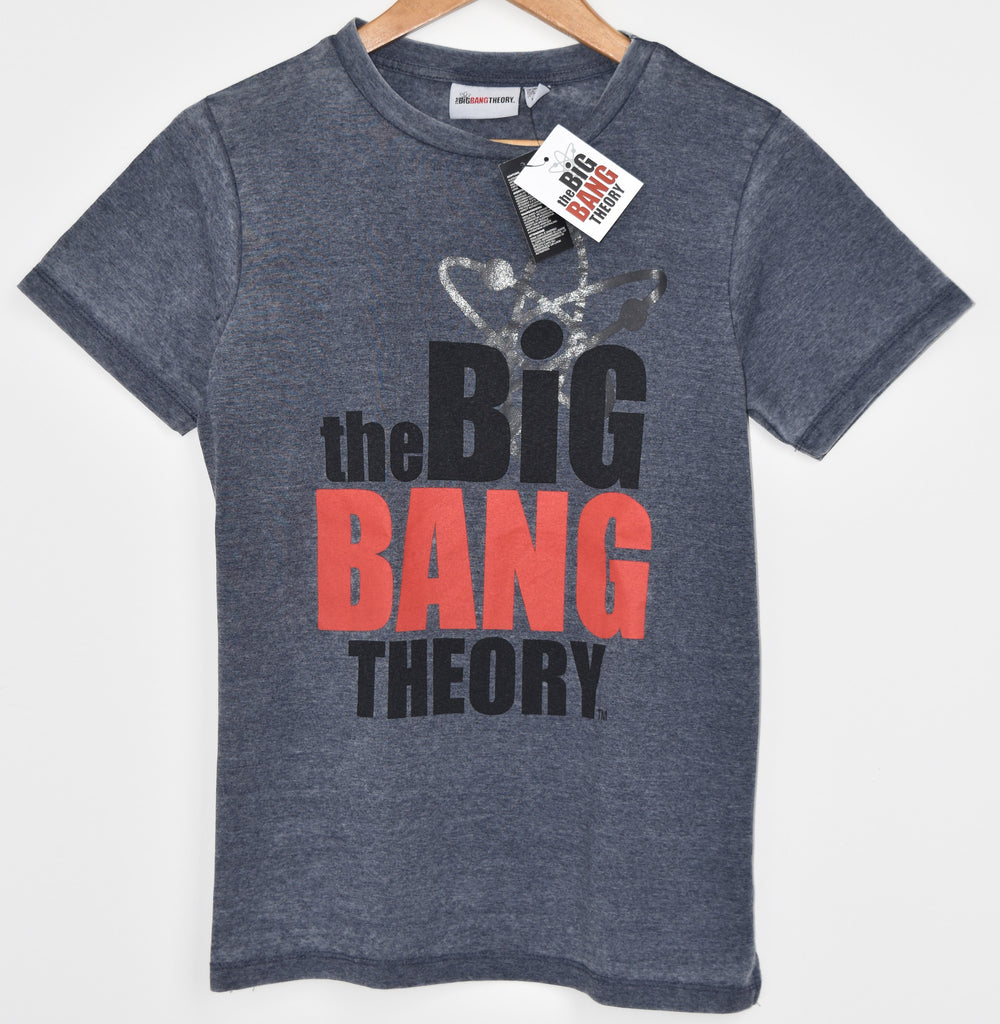 PRIMARK BIG BANG THEORY T SHIRT LOGO LADIES OFFICIAL UK SIZES 10 to 14