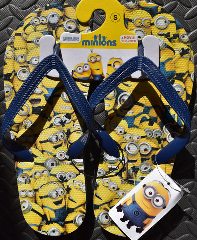 PRIMARK Minions Flip Flops Multi OFFICIAL MENS Sizes 6 - 11 NEW - Click. Buy. Love. - 1