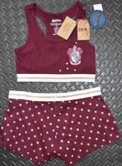 GRYFFINDOR PRIMARK Crop Vest & Shorts Set HARRY POTTER PJ PYJAMAS 6 - 20