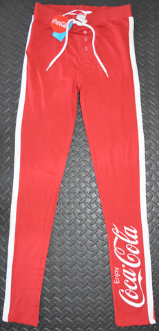 COCA COLA PJ BOTTOMS COKE PRIMARK LEGGINGS Ladies RED UK Sizes 4 - 24