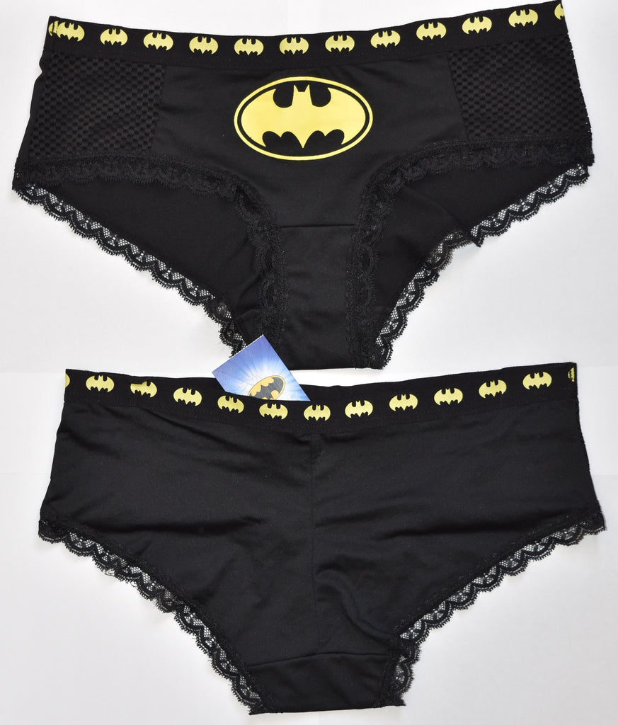 BATMAN KNICKERS YELLOW AND BLACK WOMEN LADIES SIZES UK 6
