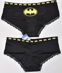 BATMAN KNICKERS YELLOW AND BLACK WOMEN LADIES SIZES UK 6-20