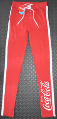 COCA COLA PJ BOTTOMS COKE PRIMARK LEGGINGS Ladies RED UK Sizes 4 to 24