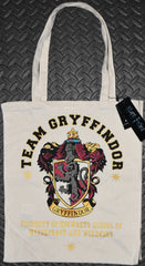 Harry Potter Team Gryffindor Primark CANVAS TOTE SHOPPER SHOPPING SHOULDER BAG