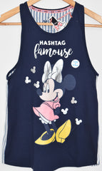 MINNIE MOUSE Primark Vest DISNEY T Shirt Split Back Womens Ladies UK Sizes 4-20