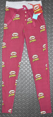 PRINGLES PJ BOTTOMS PRIMARK LEGGINGS Womens Ladies BURGUNDY UK Sizes 4 - 20