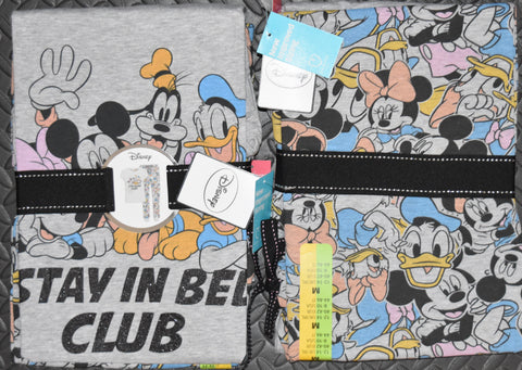 DISNEY ORIGINAL PRIMARK PJ SET PYJAMAS MICKEY GOOFY Womens Ladies UK Size 4 - 24