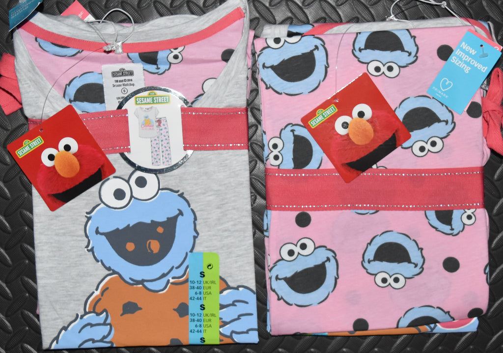 COOKIES AND PYJAMAS PRIMARK PJ SET MONSTER Womens Ladies UK Size 4 - 24