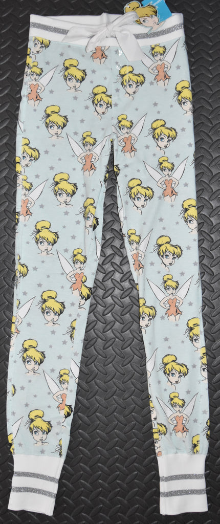TINKERBELL PJ BOTTOMS PRIMARK LEGGINGS DISNEY Womens Ladies UK Sizes 4 to 16