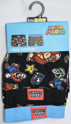 SUPER MARIO Primark Pants Mens 2 PACK UNDERWEAR HIPSTER Sizes M - XXL