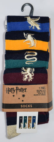 HARRY POTTER SOCKS PRIMARK GRYFFINDOR SLYTHERIN RAVENCLAW HUFFLEPUFF HOUSE 4 PACK