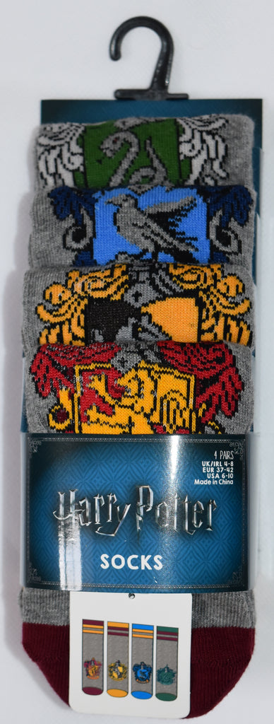 HARRY POTTER SOCKS PRIMARK GRYFFINDOR RAVENCLAW SLYTHERIN HUFFLEPUFF HOUSE 4 PACK