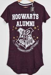 PRIMARK HOGWARTS ALUMNI HARRY POTTER PJ NIGHTIE BURGUNDY Sizes 6 to 12