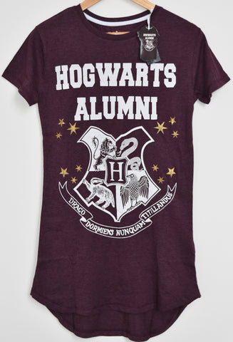 PRIMARK HOGWARTS ALUMNI HARRY POTTER PJ NIGHTIE BURGUNDY Sizes 4 - 20 NEW