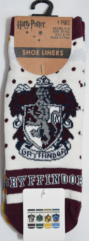 HARRY POTTER PRIMARK Socks GRYFFINDOR SLYTHERIN RAVENCLAW HUFFLEPUFF 4 PACK