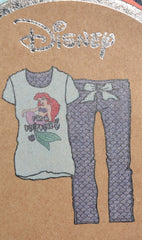 PRIMARK LITTLE MERMAID PJ Disney Ariel Set Womens Ladies Pyjamas UK Sizes 6 to 8