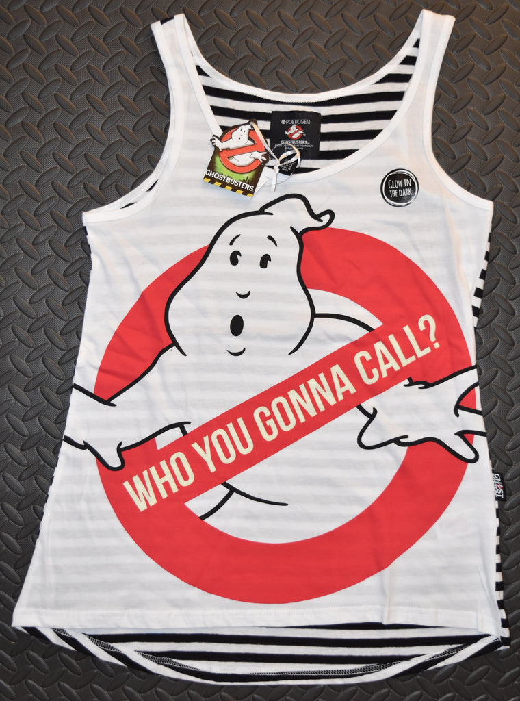 PRIMARK GHOSTBUSTERS GLOW IN DARK Vest T Shirt New Sizes 6 - 12