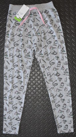 SIMONS CAT PJ BOTTOMS MEOW PRIMARK LEGGINGS Ladies UK Sizes 4 - 12