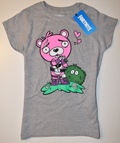 FORTNITE T-Shirt BEAR CUDDLE TEAM LEADER PRIMARK Womens Ladies UK Sizes 4 - 24