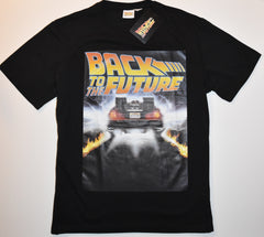 BACK TO THE FUTURE T SHIRT MENS OUTATIME LOGO PRIMARK UK Sizes M - XXXL