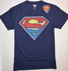 SUPERMAN T SHIRT MENS DC RED TO BLUE LOGO PRIMARK UK Sizes M - L