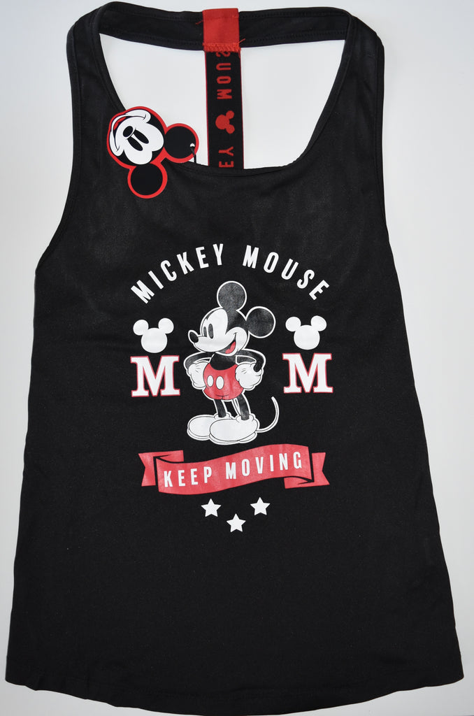 MICKEY MOUSE VEST PRIMARK DISNEY RACER BACK GYM Womens Ladies UK Size 4 to 20
