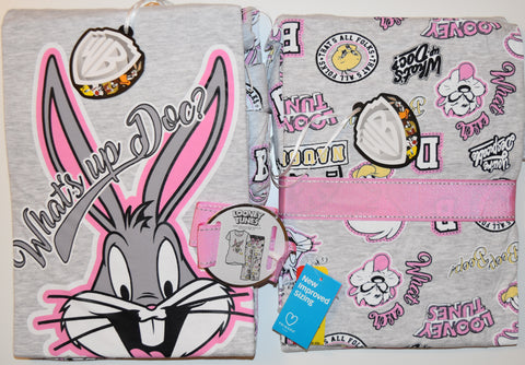 BUGS BUNNY PRIMARK PJ SET LOONEY TUNES PYJAMAS Women Ladies UK Sizes 4-24