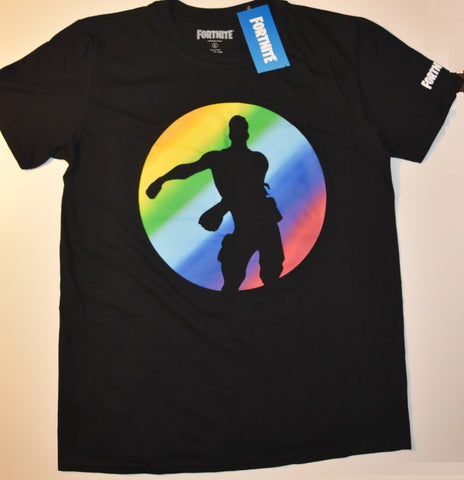 FORTNITE T SHIRT FLOSS 100% cotton OFFICIAL MENS DANCE LOGO UK Sizes L - XL