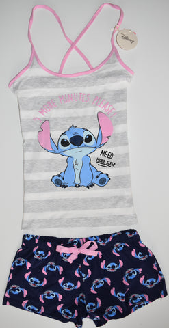 LILO AND STITCH VEST SHORTS PYJAMAS PJ SET PRIMARK Womens Ladies UK Sizes 4 - 16